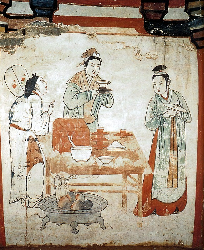 Preparing tea - Liao dynasty
