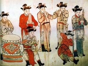 Playing music - Liao dynasty