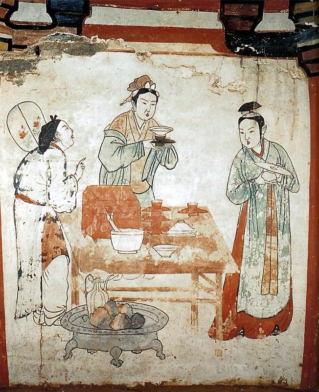 Preparing tea - Liao dynasty